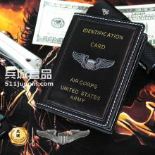 美国飞行员配发 超薄真皮驾驶证套 证件卡包防消磁多卡位纯皮钱夹