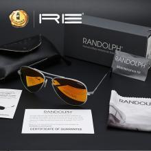 正品美国 RANDOLPH蓝道夫协和机雷朋款 高档镀膜PC眼镜 太阳镜