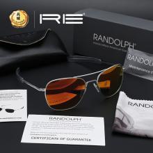 正品美国Randolph兰道夫 飞行员系列 镀膜PC眼镜直柄太阳镜 墨镜