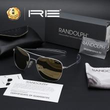 正 美国RANDOLPH 蓝道夫 太阳镜/军版飞行员眼镜 银色镀膜镜