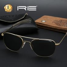 美国Randolph蓝道夫 兰道夫 空军飞行员眼镜/太阳镜 方版金色直臂