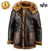 美国正品 阿尔法 ALPHA B-7皮毛一体大衣 空军皮衣 限量版