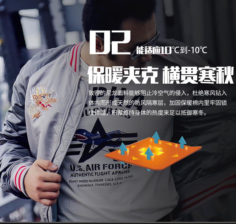 ALPHA INDUSTRIES alpha阿尔f法纪念龙腾MA1飞行夹克春季薄款双面外套