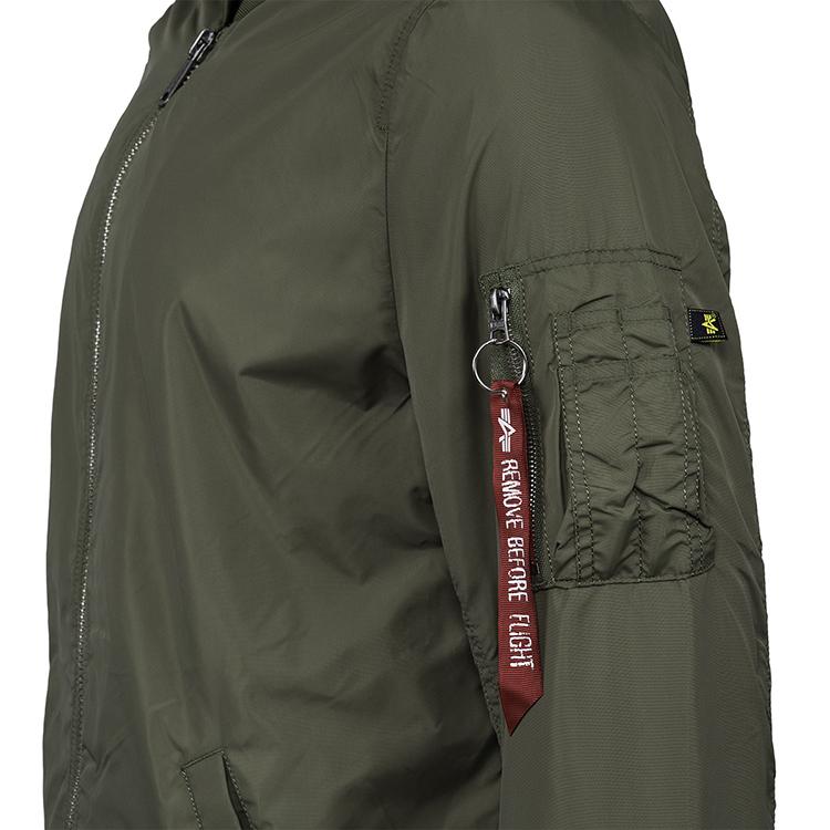 ALPHA INDUSTRIES 美国alpha阿尔f法加长版MA1飞行夹克春季薄款风衣