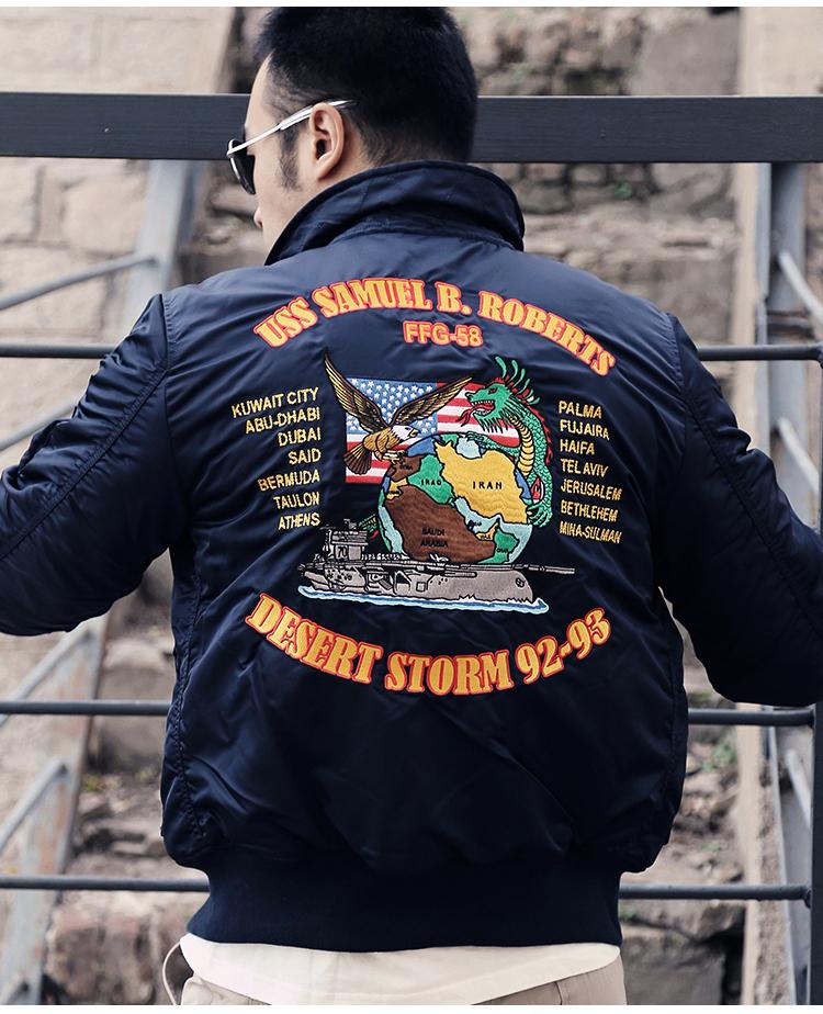 ALPHA INDUSTRIES 美国阿尔法工业飞行夹克45p巡航夹克翻领收腰休闲夹克