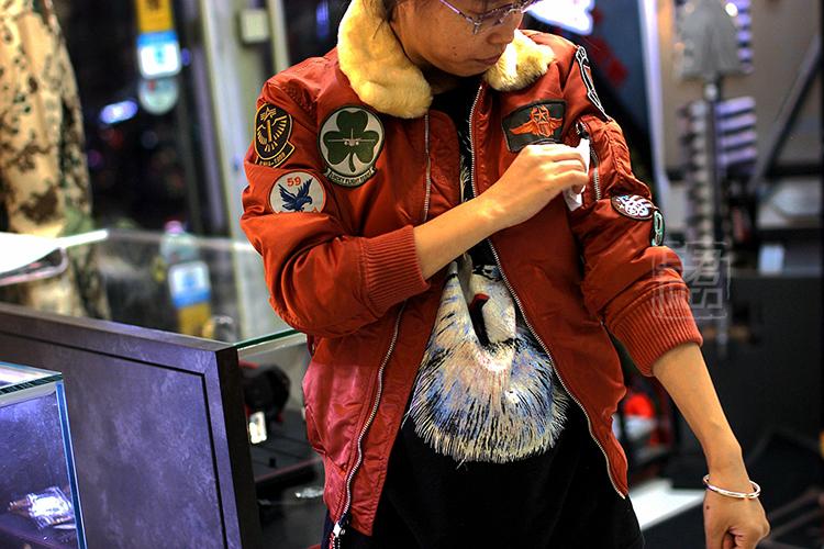ALPHA INDUSTRIES 美国阿尔法工业小牛夹克儿童夹克收腰休闲ma1外套