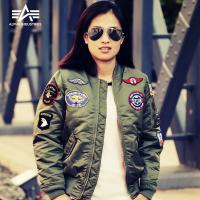 美国阿尔法MA-1亲子装系列飞行夹克棉服外套儿童装棉衣男女款